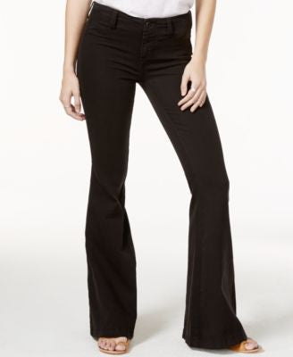 Free People Jolene Flared Black Wash Jeans