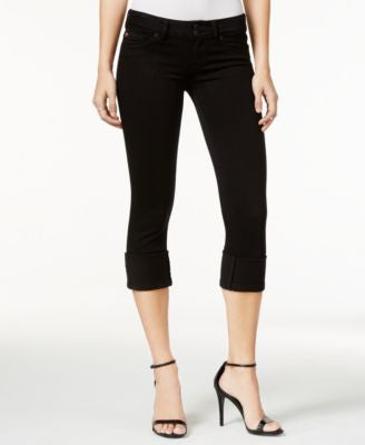 Hudson Jeans Ginny Cropped Skinny Black Wash Jeans