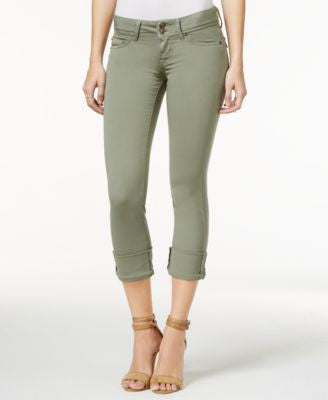 Hudson Jeans Ginny Cuffed Skinny Olive Wash Jeans
