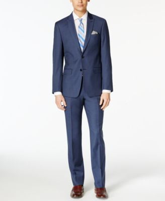 Calvin Klein X-Fit Navy Solid Extra-Slim-Fit Suit