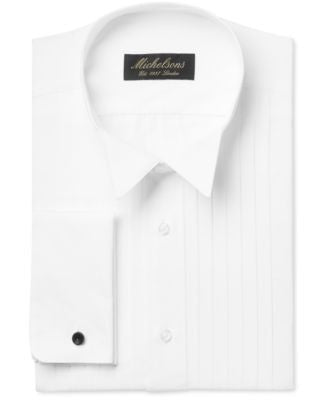 Michelsons Classic-Fit Pleated Point French Cuff Tuxedo Shirt