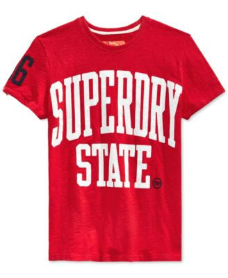 Superdry Men's State Rebel Graphic-Print Logo T-Shirt