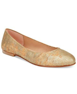 French Sole FS/NY Radar Metallic Cork Ballet Flats