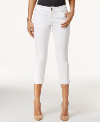 Nanette by Nanette Lepore Madison White Wash Capri Jeans