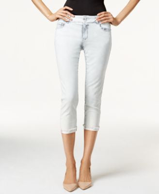Nanette by Nanette Lepore Madison Cloud White Wash Capri Jeans