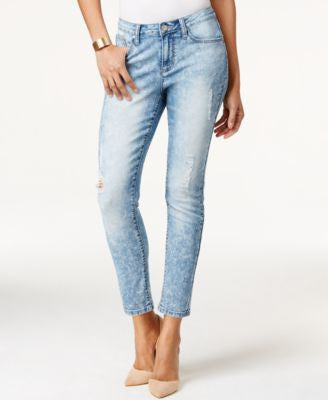 Earl Jeans Skinny Ankle Light Destructed Wash Jeans