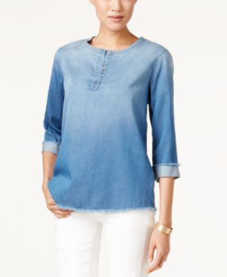 Calvin Klein Jeans Denim Henley Top