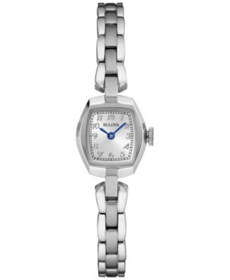 Bulova Women's Stainless Steel Bracelet Watch 18mm 96L221