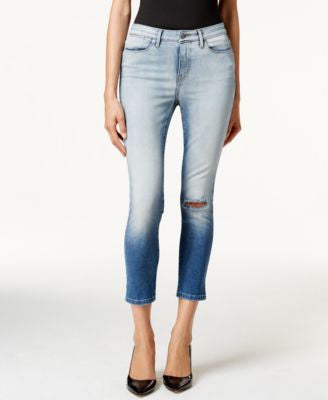 Calvin Klein Jeans High-Rise Skinny Ankle Lille Blue Wash Jeans