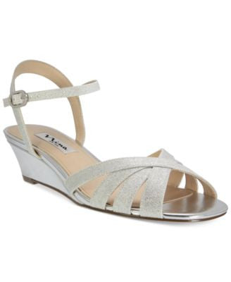 Nina Filia Wedge Evening Sandals