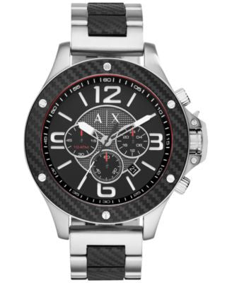 A|X Armani Exchange Men's Chronograph Two-Tone Ion-Plated Stainless Steel Bracelet Watch 48mm AX1521