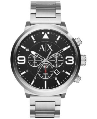 A|X Armani Exchange Men's Chronograph Stainless Steel Bracelet Watch 49mm AX1369