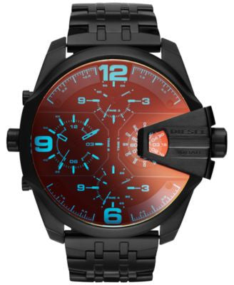 Diesel Men's Chronograph Uberchief Black Ion-Plated Stainless Steel Bracelet Watch 55x62mm DZ7373