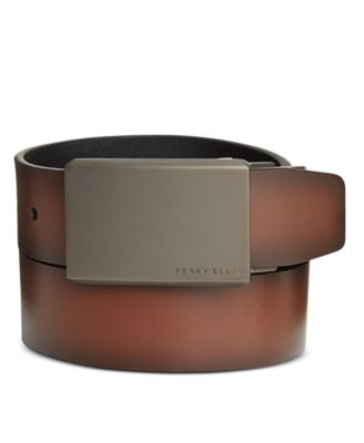 Perry Ellis Men's Leather Matte at Me Reversible Belt