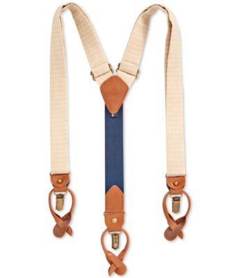 Tommy Hilfiger Men's Horizontal Striped Suspenders