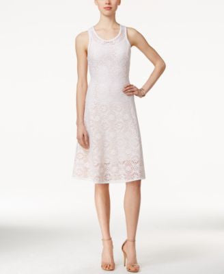 Alfani PRIMA Lace A-Line Dress, Only at Vogily