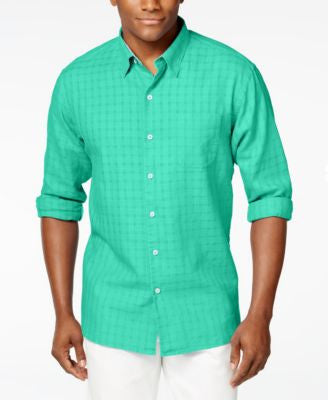 Tommy Bahama Men's Sydney Squares Long Sleeve Shirt