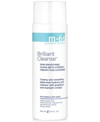 m-61 by Bluemercury Brilliant Cleanse - Skin-Smoothing Alpha Beata Hydroxy Cream Face Cleanser, 8.4