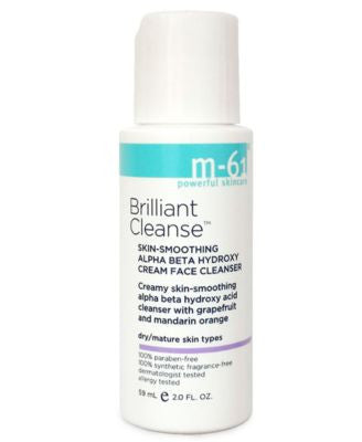 m-61 by Bluemercury Brilliant Cleanse - Travel Size Skin-Smoothing Alpha Beta Hydroxy Cream Face Cle