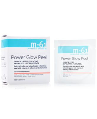 m-61 by Bluemercury PowerGlow Peel 1 Minute 1-Step Exfoliating Facial Peel – 10 Treatments