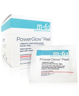 m-61 by Bluemercury PowerGlow Peel 1 Minute 1-Step Exfoliating Facial Peel – 30 Treatments