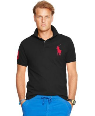 Polo Ralph Lauren Men's Classic-Fit Big Pony Mesh Polo Shirt