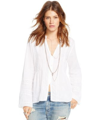 Denim & Supply Ralph Lauren Embroidered Gauze Shirt