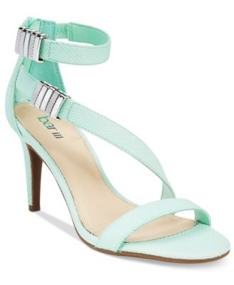 Bar III Hillary Ankle-Strap Asymmetrical Dress Sandals, Only at Vogily