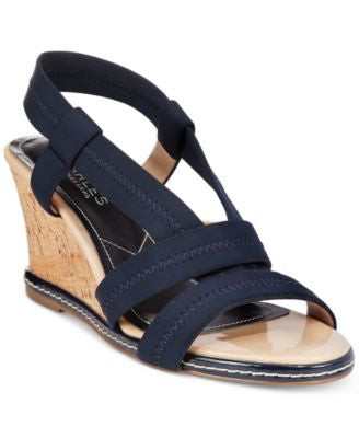 CHARLES By Charles David Hyper Stretch Fabric Wedge Sandals