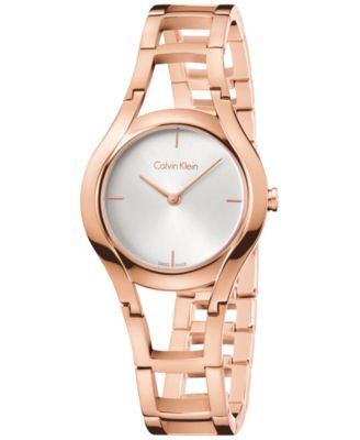 Calvin Klein class Women's Swiss Class Rose Gold-Tone PVD Stainless Steel Bracelet Watch 32mm K6R236