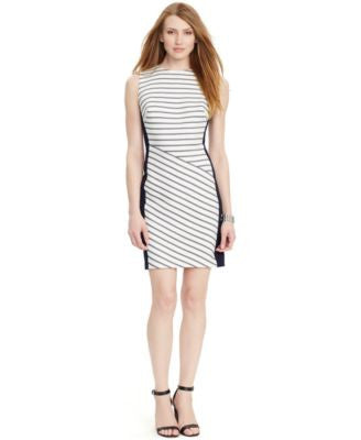 Lauren Ralph Lauren Petite Sleeveless Striped Dress