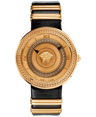 Versace Women's Two-Tone Stainless Steel and Leather Strap Watch 40mm VLC030014