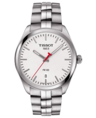 Tissot Men's Swiss NBA PR100 Stainless Steel Bracelet Watch 39mm T1014101103101