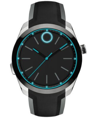Movado Men's Bold Motion Black Silicone Strap Smartwatch 44mm 3660001