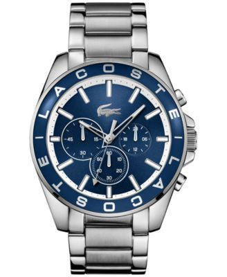 Lacoste Men's Chronograph Westport Stainless Steel Bracelet Watch 45mm 2010856