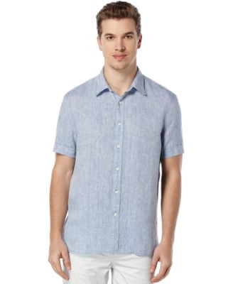 Perry Ellis Men's Chambray Short-Sleeve Shirt