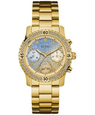GUESS Women's Gold-Tone Stainless Steel Bracelet Watch 37mm U0774L2