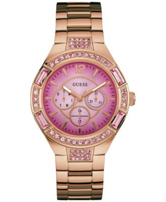 Guess Women's Rose Gold-Tone Stainless Steel Bracelet Watch 40mm U0776L3