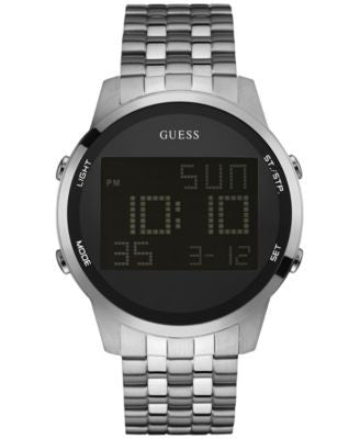 GUESS Men's Digital Chronograph Stainless Steel Bracelet Watch 46mm U0786G1