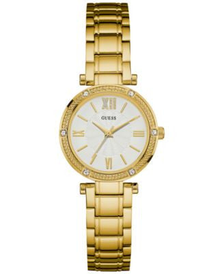 GUESS Women's Gold-Tone Stainless Steel Bracelet Watch 40mm U0767L2