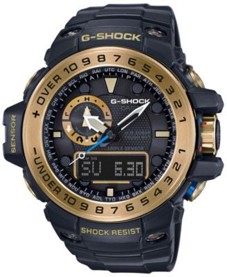 G-Shock Men's Analog-Digital Gulfmaster Black Bracelet Watch 45x56mm GWN1000GB-1A