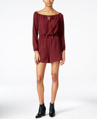 Bar III Off-The-Shoulder Romper, Only at Vogily