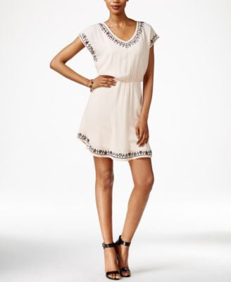 Bar III Cap-Sleeve Cutout Dress, Only at Vogily
