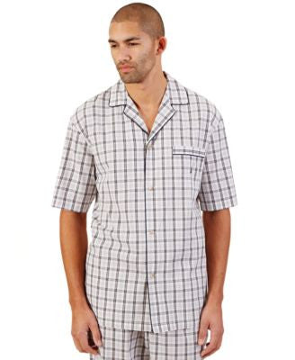 Nautica Men's Woven Plaid Pajama Top