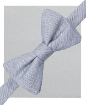 Alfani Spectrum Seasonal Solid Pre-Tied Bow Tie and Pocket Square Set, Only at Vogily