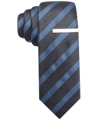 Alfani Wheaton Stripe Skinny Tie, Only at Vogily