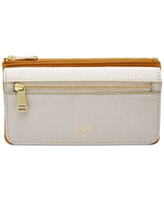 Fossil Preston Leather Colorblock Flap Clutch Wallet