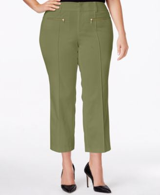 INC International Concepts Plus Size Cropped Pants, Only at Vogily