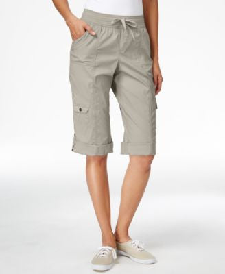Style & Co. Cuffed Cargo Capris, Only at Vogily