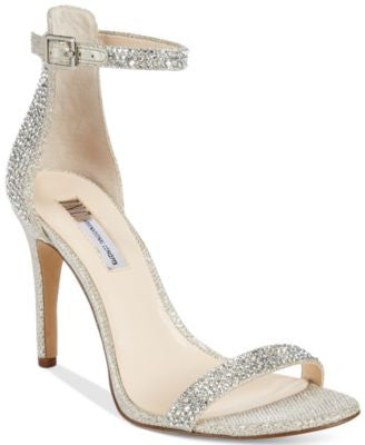 INC International Concepts Women's Roriee Rhinestone Ankle-Strap Dress Sandals, Only at Vogily